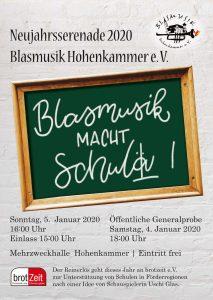 Neujahrs-Serenade 2020 - Blasmusik macht Schule! @ Mehrzweckhalle, Grundschule Hohenkammer | Hohenkammer | Bayern | Deutschland