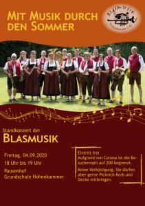 Standkonzert der Blasmusik @ Pausenhof der Grundschule Hohenkammer | Hohenkammer | Bayern | Deutschland