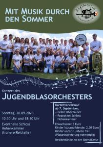 Sommerkonzert des Jugendblasorchesters @ Eventhalle Schloss Hohenkammer | Hohenkammer | Bayern | Deutschland