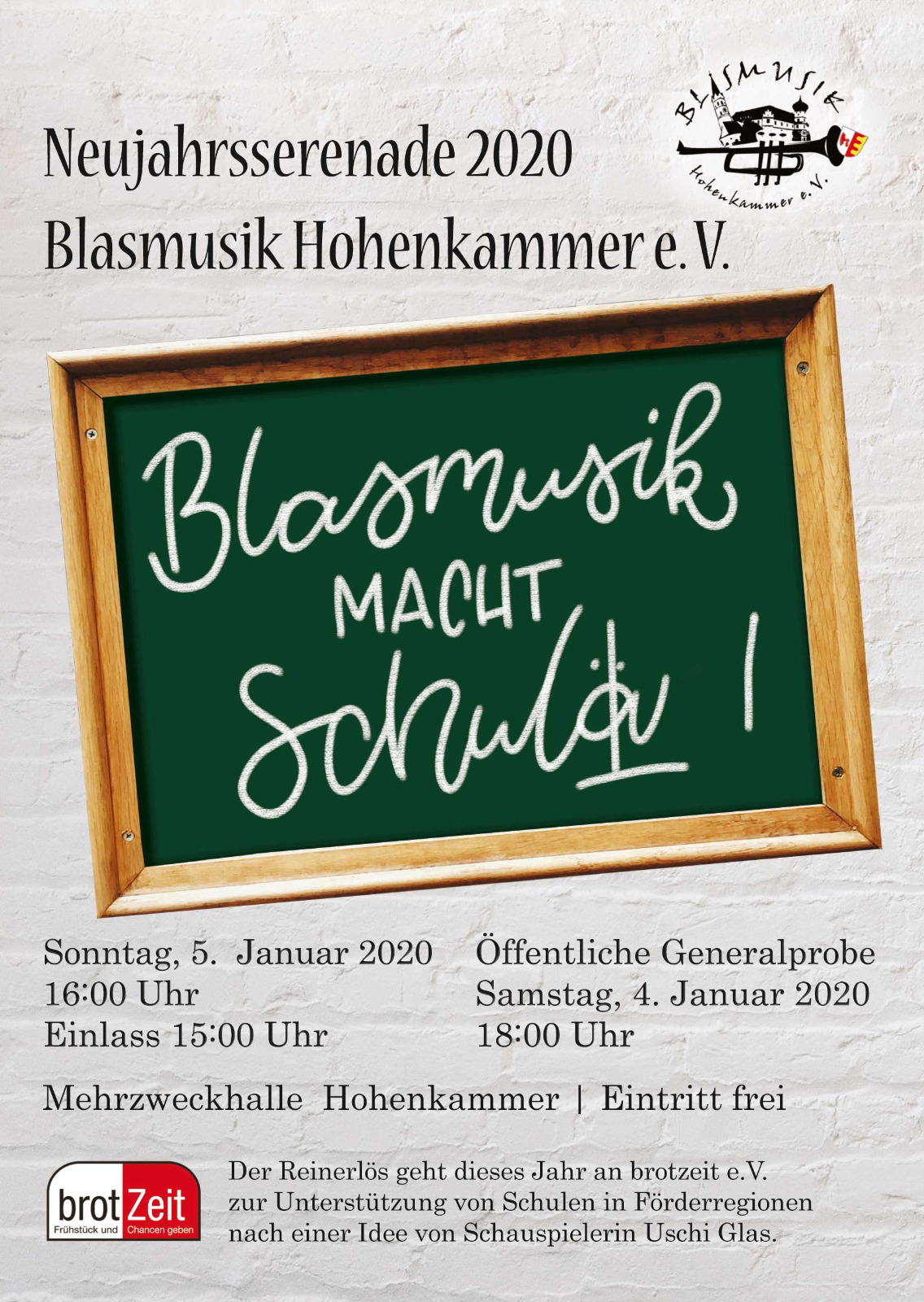 Neujahrs-Serenade 2020 - Blasmusik macht Schule!