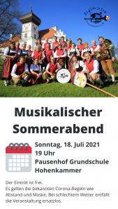 Musikalischer Sommerabend @ Pausenhof der Grundschule Hohenkammer   Hohenkammer   Bayern   Deutschland